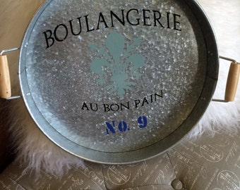 Decorative tray, metal, Parisian Theme