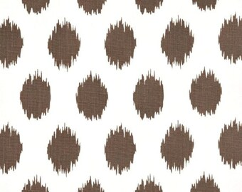 1/2 Yard of  Jo Jo - Italian Brown Drew - Premier Prints -  Brown White ikat polka dots