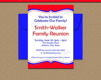 Printable family reunion invitation editable pdf template printable family reunion invitation template editable family bbq invites family picnic invitations fourth stopboris Images