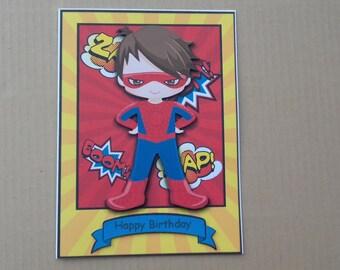 Handmade Birthday Card * Boy's Birthday Card * Superhero Birthday Card * Superhero * Son * Grandson * Nephew * Brother * Cousin * Godson