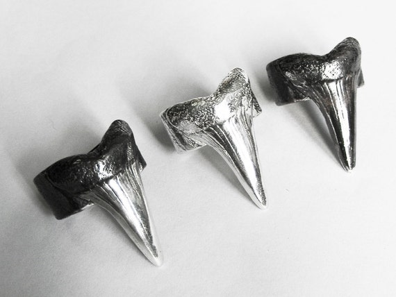 Sterling Silver Shark Tooth Ring