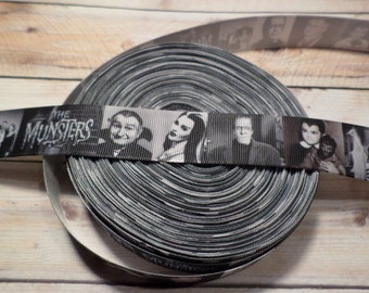 The Munsters Grosgrain Ribbon, horror ribbon