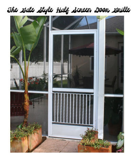 Half Screen Door Grille Gate Style Simple Clean Design Made Of
