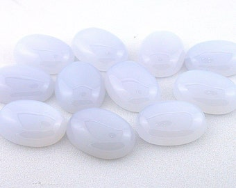 two 20x15 oval blue gray ice agate cabochon gemstone