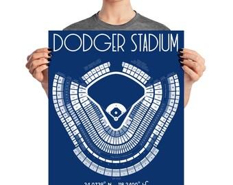 LA Dodger Stadium Poster Print