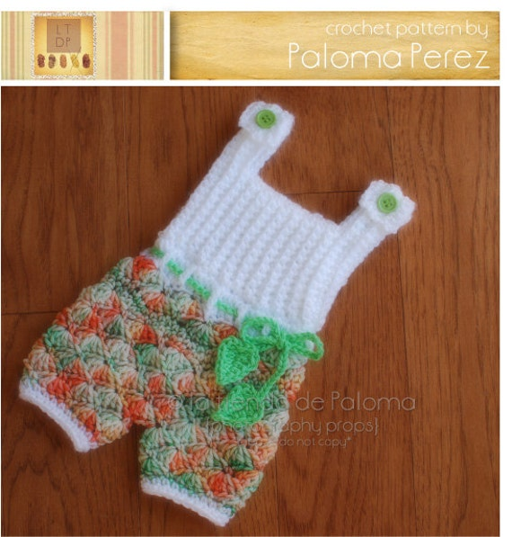 Instant Download Crochet Shelly Romperdress Pattern Baby