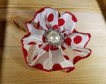 Red and White Polka Dotted Hair Clip For Toddlers and Little Girls ... Enjoy the Parties & Celebrations