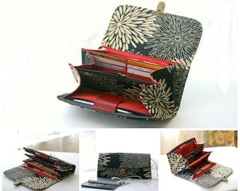 Women Wallet - Phone wallet clutch - medium/ womens wallet/ woman wallets/ fabric wallet/ gift idea/ bags and wallets/ iPhone 6 Plus clutch