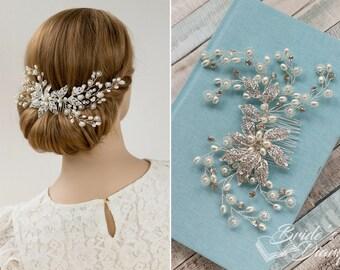 Rhinestones bridal hair comb, bridal hairpiece, Wedding hair jewelry