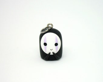 No face from Spirited Away polymer clay charm - stitch marker - necklace