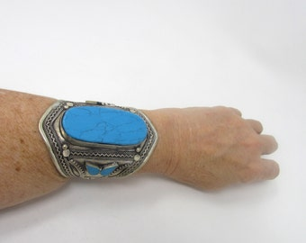 Turquoise Tribal Cuff
