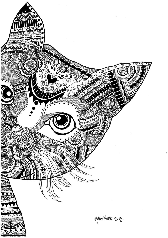 Ausmalbilder Mandala Katzen – Ausmalbilder Webpage