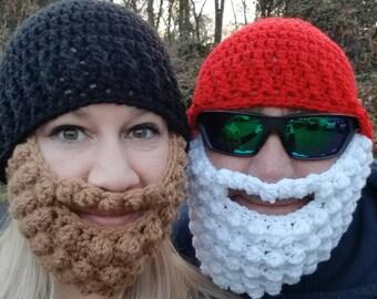 Crocheted Hat and Beard set