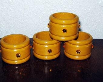 Wooden Napkin Rings, Napkin Holder, Table Decor, Table Ware, Dining Decor, Golden Yellow, Honey Amber, Dining Table, Handmade