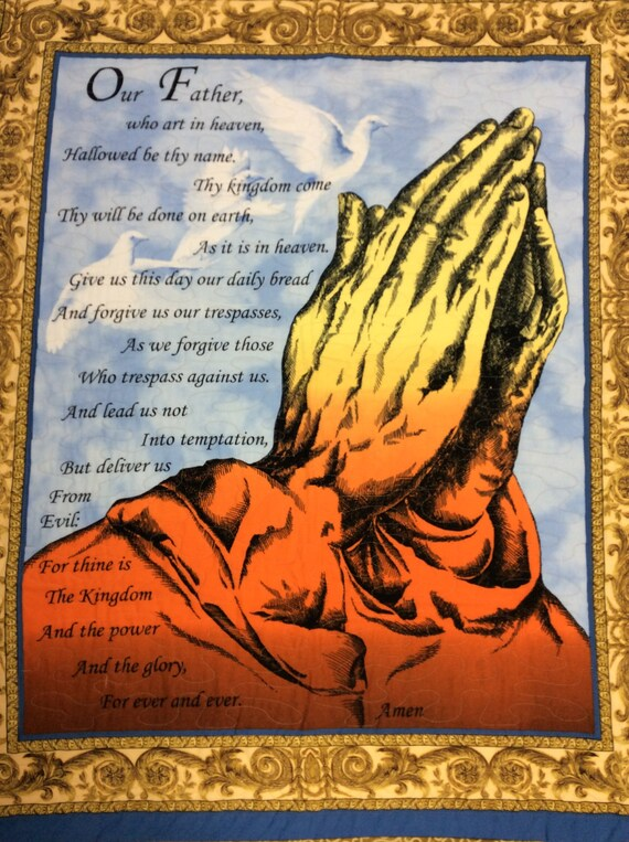 The Lord's Prayer Wall Hanging 41x34 Religious Christian Our Father Prayer