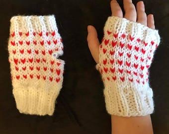 Knit Fingerless Gloves / Mitts