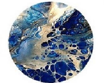 pretty abstract splatter cabochon 20mm