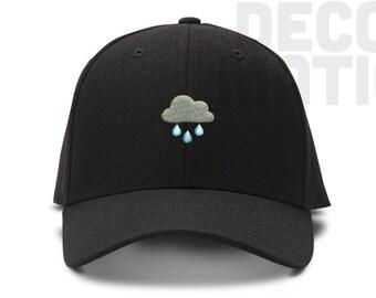 Rainy Day Rain Cloud -  Low Profile Cotton Dad hat - Baseball Cap
