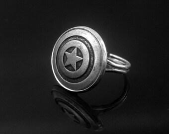 Pentagram Ring -Captain America Ring -Super Hero Ring -Adjustable Personalized Ring -Gift for Her