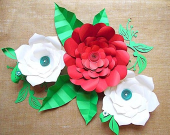 Giant paper flower templates tutorial large paper flowers paper diy giant flower templates diy large paper flower kit svg cutting files flower templates large backdrop flowers diy wedding decor mightylinksfo Image collections