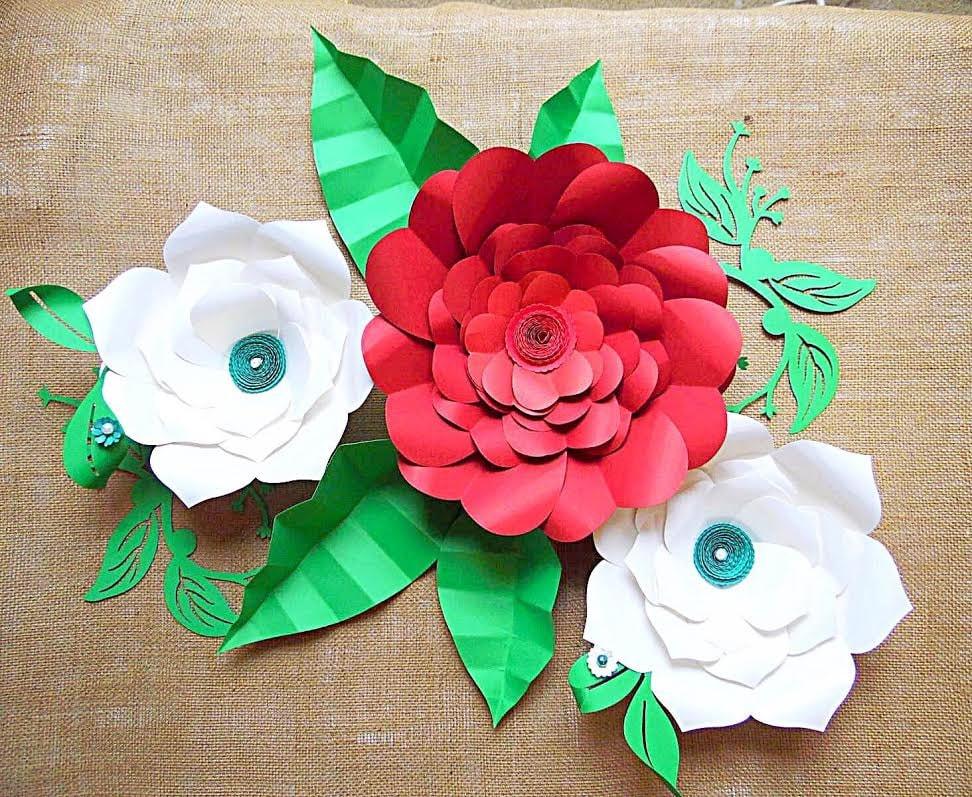 DIY Giant flower templates DIY Large Paper flower kit SVG