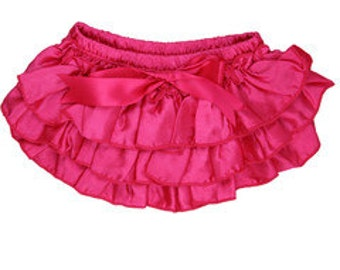 Ruffled diaper cover, diaper cover girl, baby bloomer set, hot pink diaper cover, toddler girl bloomers, ruffled bloomers