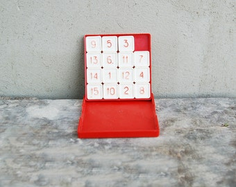 USSR Soviet vintage Vintage 15 Puzzle Sliding Number Block Game eEducational logic game - vintage numbers game - made in USSR in1985