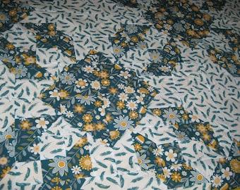 Yellow Flower Quilt Blanket