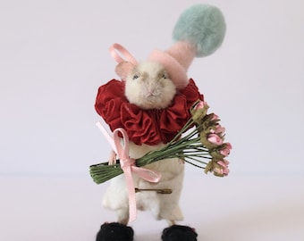 Anthropomorphic Taxidermy Baby Clown Field Mouse, Field Mouse