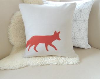 Fox Pillow Cover - Rustic Modern