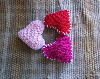Cat toy. Knot cat toy, catnip cat toy, valentine's day cat toy, heart cat toy