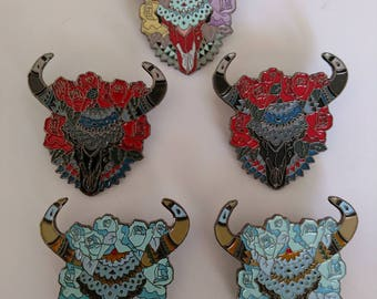 Skull and Roses hat pins