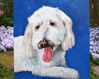 """14""""x18"""" Pet Portrait- oil paints"""