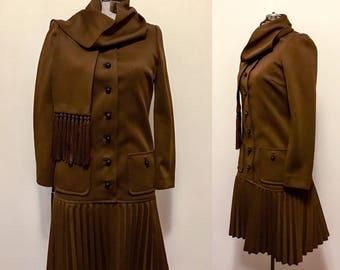 1960s Dalton Mod Dress, Drop Waist Dress, Vintage Day Dress
