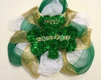 Tricolor St. Patrick's Day Wreath