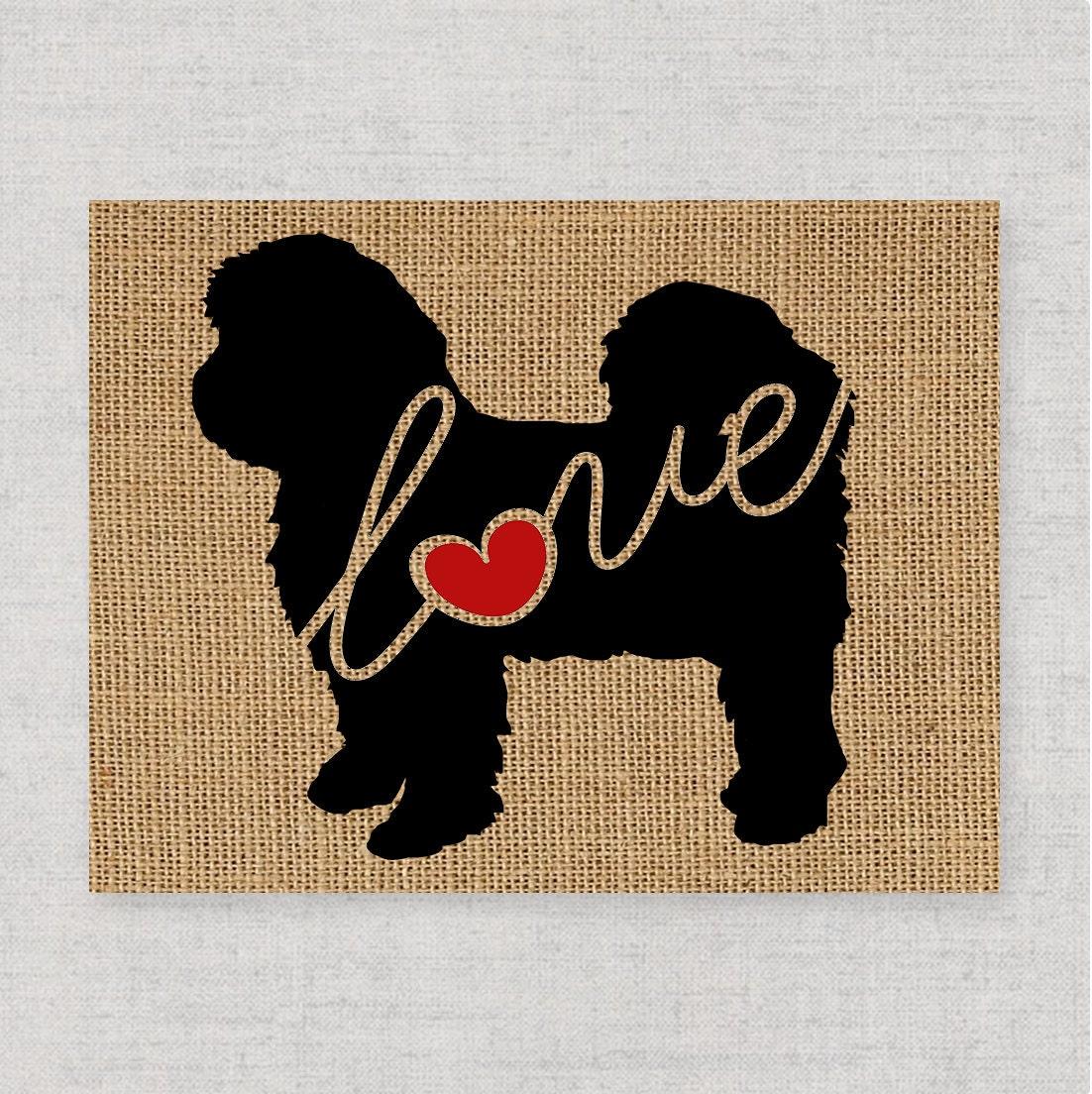 Shih Tzu Shih Tzu Short Hair Art Print On Burlap Dog