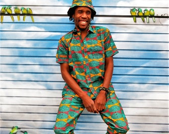 Highlife Shirt // Men's Shirt // Festival Costume // African wax print // Festival Shirt // Crazy print // Colourful shirt 2EAhmnRjs