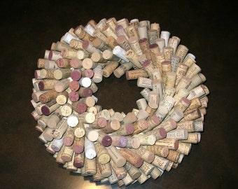 Wine Cork Wreath or Centerpiece - Home or Bar Decor