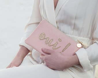 Pocket * Yes * pink (suede and glitter)