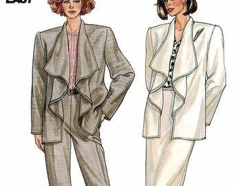 Butterick 3418 Sewing Pattern for Misses' Jacket, Skirt and Pants - Uncut - Size 6, 8, 10