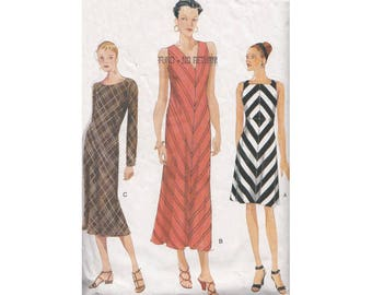 1990s Bias Dress in 3 Lengths Vogue Sewing Pattern 9632 Size 12-16 B34-36-38 Easy to Sew Lined Flared Dress