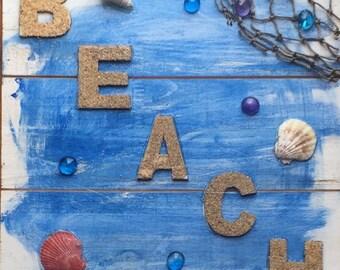 Beach Shell Sign