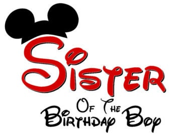 Disney Sister of the Birthday Boy  Mickey Ears INSTANT Download Printable Iron on Transfer Design Disney Birthday Family Shirts Iron on