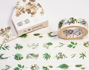 Masking Washi Tape-leaves 2/Filoxafing DIY scrapbooking deco tape