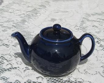 Pristine English Teapot, cobalt blue
