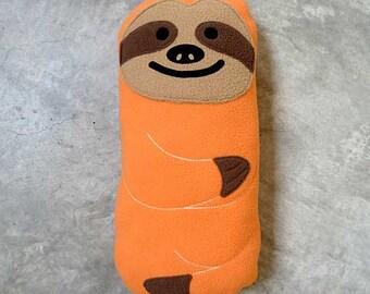 Sloth Plush Toy, Sloth Plushie, Sloth Soft Toy, Sloth Stuffed Animal, Sloth Cushion, Sloth Pillow, Soft Toy - The Slothful One (Apricot)