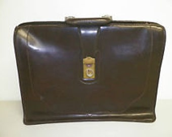 Classic Brown Leather Legal Valise