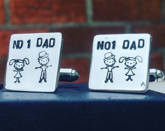 Sterling silver personalised cufflinks, perfect for father's day or to compliment any suit