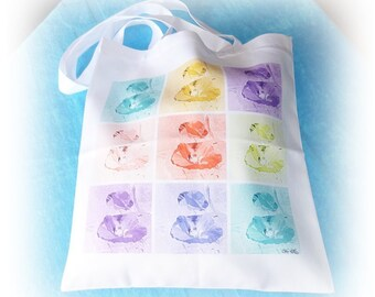 Tote bag coquelicot multicolore de Céline Photos Art Nature ou sac shopping