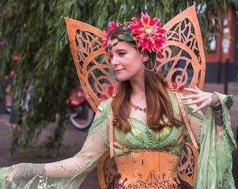 Spring fairy tiara headdress costume hand made unique nymph fairy light costume